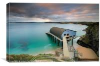 Padstow RNLI Station at sunrise, Canvas Print