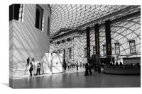 Inside the British Museum, Canvas Print