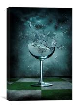 Broken Glass, Canvas Print