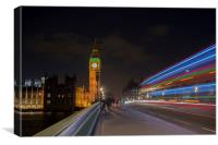 Light trails in London, Canvas Print