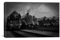 Icons of Steam Line Up, Canvas Print
