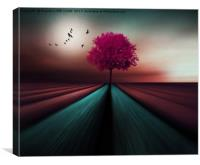 The Little Pink Tree , Canvas Print