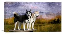 Archie and Tilley, Canvas Print