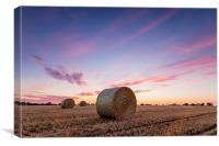 Bales at Sunset, Canvas Print