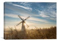 Sun Behind the MIll, Canvas Print