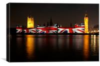 Westminster jack, Canvas Print