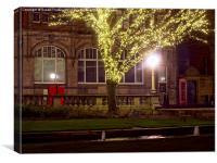 Post Office at night, Canvas Print