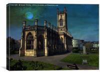 Bombed out church, Canvas Print