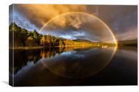 Loch Rainbow, Canvas Print