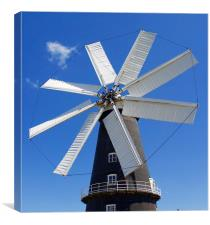 Heckington 8 Sail Windmill , Canvas Print