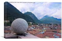Rooftop view of Riva , Canvas Print