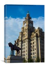 Liver buildings from Mann Island Liverpool, Canvas Print