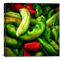 Peppers at the Market, Canvas Print