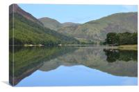 Summer at Crummock water., Canvas Print