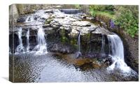 The waterfall at hawes, Canvas Print