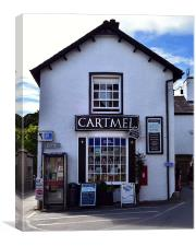 Cartmel Village Shop., Canvas Print