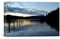 Dusk on Loch Ard, Canvas Print