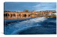 Dumfries weir, Canvas Print