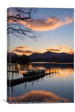 Sunset at Derwentwater, Canvas Print