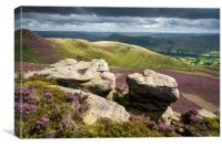 Dramatic view from Ringing Roger, Edale, Canvas Print