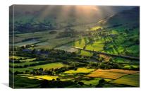 Sunlight on the Vale of Edale, Canvas Print