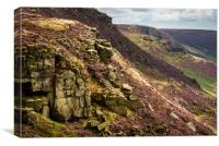 Colours of Kinder Scout, Canvas Print