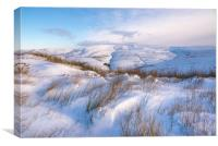 Soft drifted snow in the Peak District, Canvas Print