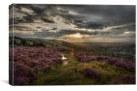 Ilkley Moor - After the Storm , Canvas Print