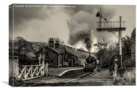 75078 at Oakworth Station New Years Day, Canvas Print