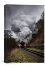 60103 Flying Scotsman nearing Goathland, Canvas Print