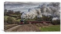 Flying Scotsman heading up Esk Valley, Canvas Print