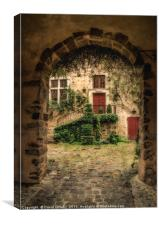 Courtyard in Le Mans, Canvas Print