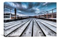 The Boardwalk whitby, Canvas Print