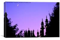 night time over Brighton pavilion , Canvas Print