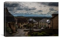 Hautefort Village, Dordogne, France, Canvas Print