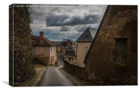 Hautefort Village, Behind the Chateau, Canvas Print