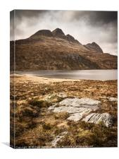 Suilven from the east, Canvas Print