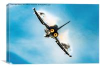The Eurofighter Typhoon Afterburner, Canvas Print