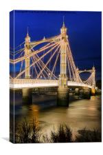 Albert Bridge London, Canvas Print