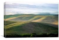 Early morning light on the rolling hills of Tuscan, Canvas Print