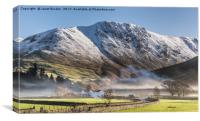 Hartsop In The Mist, Canvas Print