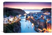 Twilight Glow, Staithes, Canvas Print
