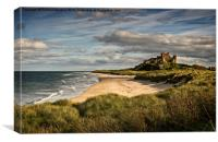 Evening At Bamburgh Castle, Canvas Print