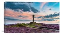 Sunset at Ana Cross, Rosedale, Canvas Print