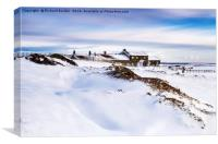 Winter At The Lion Inn On Blakey Rigg, Canvas Print