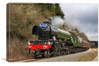 The Flying Scotsman In Newtondale, Canvas Print