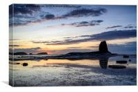Summer Sunset at Saltwick Bay, Canvas Print