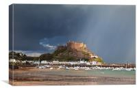 Mont Orgueil Castle after the rain, Canvas Print