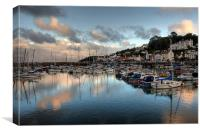 St Aubin's harbour, Canvas Print