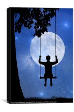 Childhood dreams, The Swing, Canvas Print